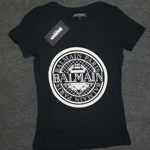 balmain women thsirt black tee